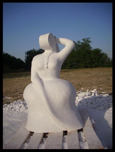 Mother and Son - marble -1.10m height (1)
